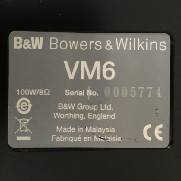 Bowers & Wilkins VM6 PRE-OWNED 4