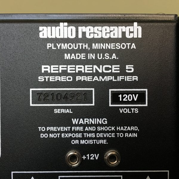 Audio Research REF 5 SE PRE-OWNED 3
