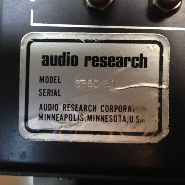 Audio Research SP-6c Preamplifier PRE-OWNED SOLD 3