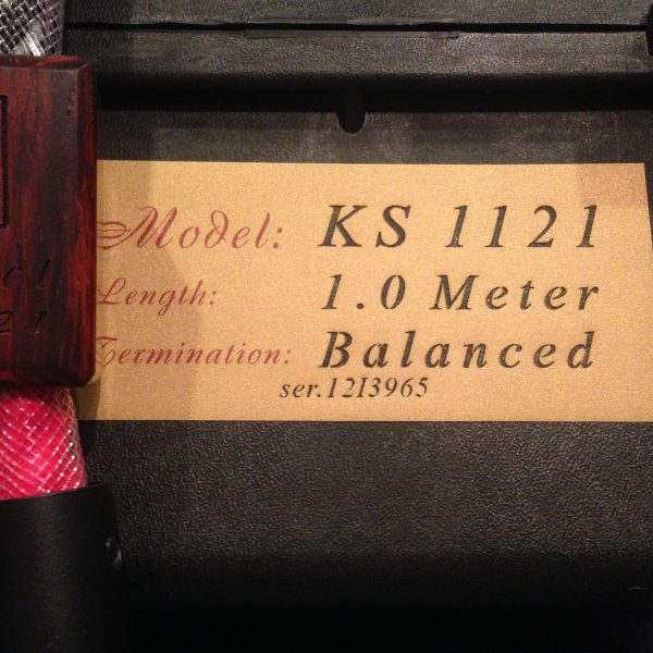 Kimber Kable KS 1121 1m Interconnects PRE-OWNED 1